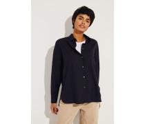 Oversize-Woll-Bluse Blau