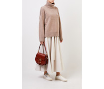 Woll-Cashmere-Pullover mit Turtleneck Taupe