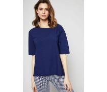 Oversize T-Shirt mit Schlitz Indigo - 100% Baumwolle