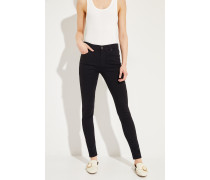 Highrise-Skinny-Jeans 'The Farrah' Schwarz
