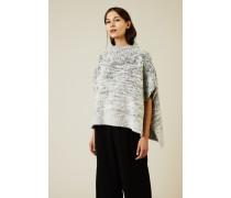 Oversize Woll-Seiden-Pullover Grau - Cashmere