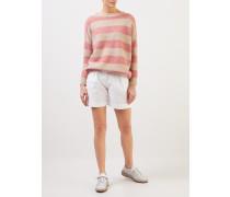 Shorts mit Umschlag Weiß