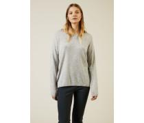 Cashmere-Pullover 'Cayo' Silber - Cashmere