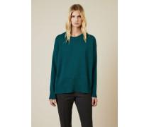 Pullover mit Knopfelement Grün - Cashmere