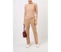 Cashmere-Pullover mit Turtleneck Camel