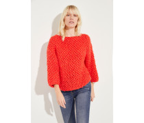 Grobstrick-Pullover 'Swantje' Rot