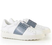 Two-Tone Sneaker mit Nieten Weiß/Grau