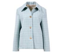 Woll-Jacke mit Karomuster Grün/Blau/Créme