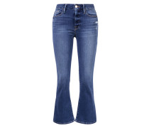 Verkürzte Jeans 'Le Crop Mini Boot' Blau