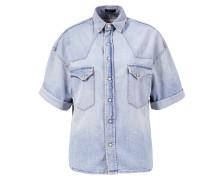 Kurzarm Denim-Shirt 'Cowboy' Blau