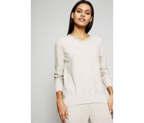 Pullover mit Perlenverzierung Sand - Cashmere