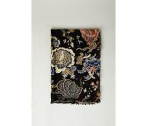 Woll-Seiden-Schal mit floralem Print 'Happy Times' Multi