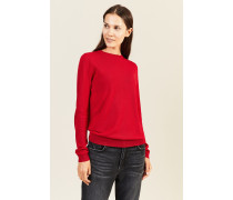 Woll-Pullover Rot