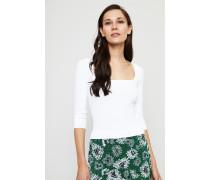 Pullover mit 3/4- Ärmeln Weiß