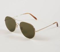 Sonnenbrille 'Rockmore' in Piloten-Form /Braun