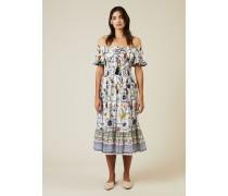 Baumwoll-Kleid 'Meadow' mit floralem Print Multi - 100% Baumwolle