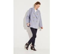 Woll-Cashmere-Jacke 'Odine Double' Blue Melange