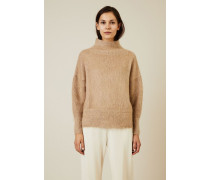 Woll-Cashmere-Pullover mit Turtle-Neck Camel - Cashmere