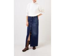 Langer Jeansrock mit Knopfleiste Blau
