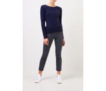 Cashmere-Pullover mit Detail Marineblau
