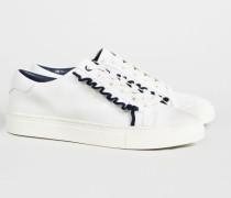 Sneaker 'Ruffle' Weiß - Leder