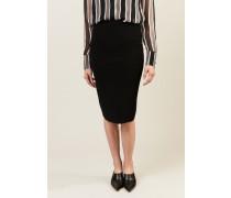 Stretch-Midirock 'Knit Pencil Skirt' Schwarz
