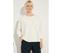 Doubleface-Pullover 'Yamila' Weiß -