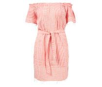 Off-Shoulder Kleid 'Semira' Rot/Weiß
