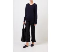 Cashmere-Pullover 'Maley' mit V-Neck Marineblau