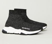Sneaker 'Speed' mit Lurexdetails Schwarz