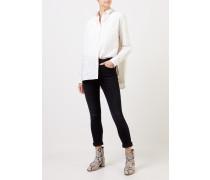 Highrise Skinny-Jeans im Used-Look Schwarz