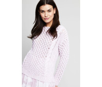 Grobstrickpullover 'Ida' Bianco/Rosa - Cashmere
