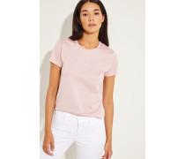 T-Shirt mit Logo Patch Rosé