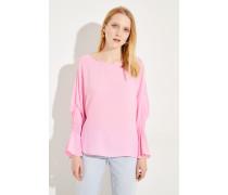 Semitransparente Bluse Pink