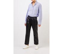 Bluse mit Streifenmuster Blau/Weiß