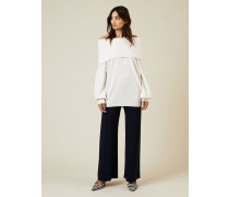 Oversize Cashmere-Pullover Weiß - Cashmere