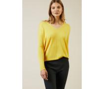 Leichter Cashmere-Pullover 'Lisa' Gelb - Cashmere