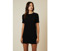 Klassisches Kleid Schwarz - Seide