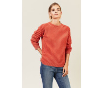 Grobgestrickter Pullover Orange