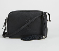 Crossbody Tasche 'Lou Camera Bag' Schwarz - Leder