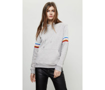 Kapuzen-Sweater mit Farbakzenten Grau - 100% Baumwolle