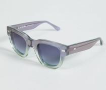 Sonnenbrille 'Frame Metal' Grün/Blau - Leder