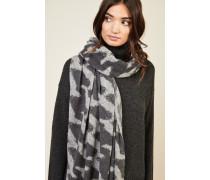 Cashmere-Schal mit Hahnentrittmuster Grau