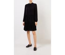 Kleid mit Lurexdetails Schwarz