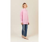 Oversize Seiden-Bluse Pink
