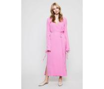 Wickelkleid mit Bindeelementen Pink