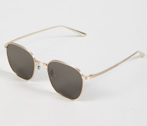 Sonnenbrille 'The Row' Gold/Brown