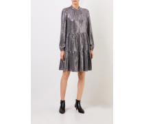 Kleid mit Paillettendetails Silber