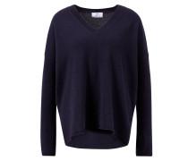 Cashmere-Pullover mit V-Neck Marineblau