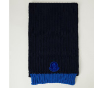 Woll-Schal Blau
